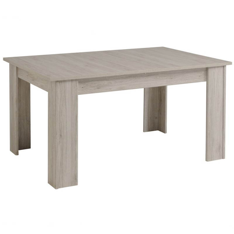 Extensible design chaillot decor light grey oak dining table for Table a manger extensible