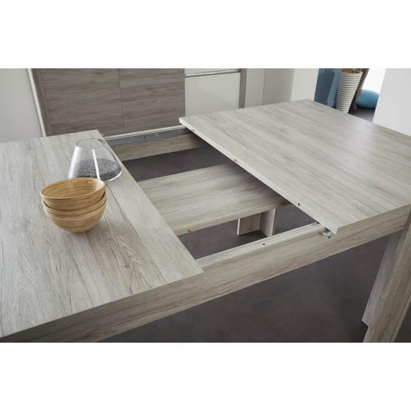 table manger extensible design chaillot d cor ch ne gris clair. Black Bedroom Furniture Sets. Home Design Ideas