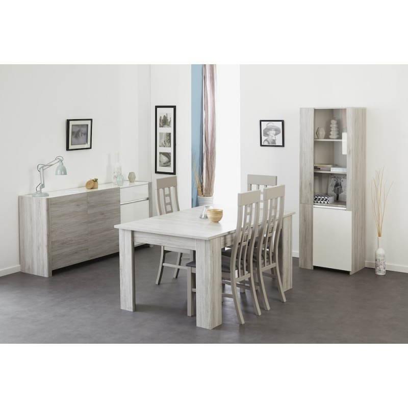 Table manger extensible design chaillot d cor ch ne for Salle a manger gris clair