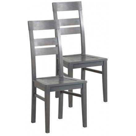 Lot de 2 chaises EUROPE en simili cuir (wengé)