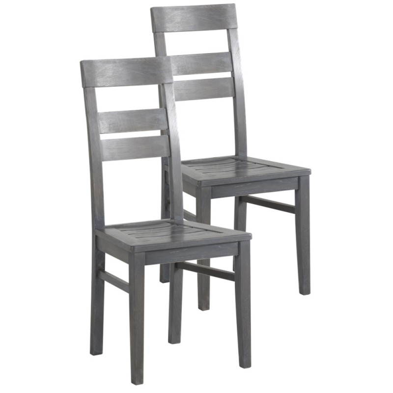 lot de 2 chaises europe en simili cuir weng