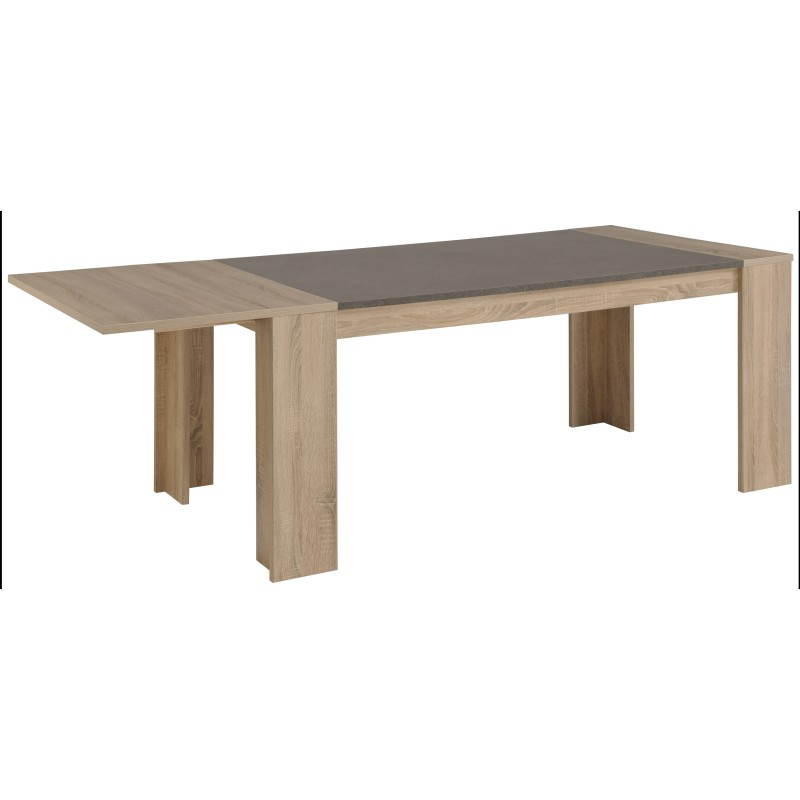 Dining Table With 2 Extensions Design Firmin Decor Raw Oak
