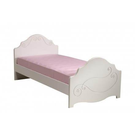 Bed junior girl 90 X 190 cm romantic style Highness (white)