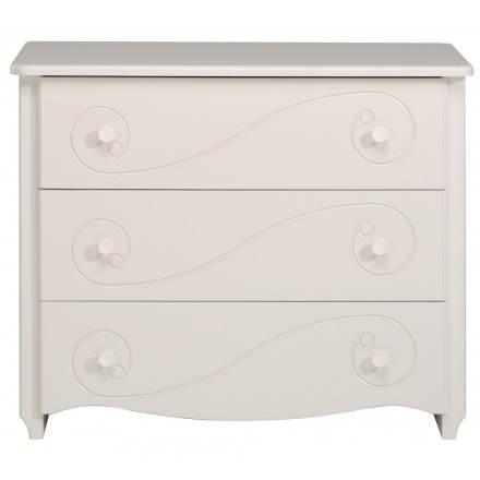 Dresser girl 3 drawers romantic style Highness (white)