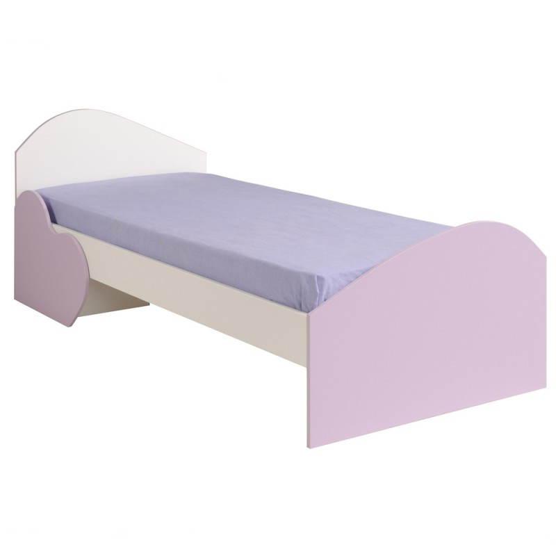 lit fille 90x200 cm ou 90x190 style romantique flores. Black Bedroom Furniture Sets. Home Design Ideas
