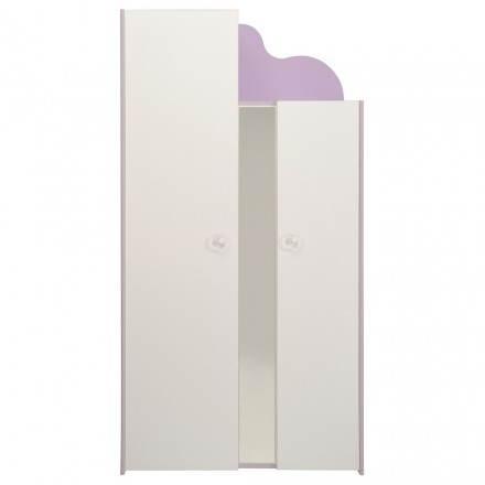 Portelli di armadietto ragazza 2 romantici stile FLORES (bianco, Lilla)
