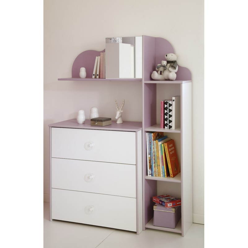 etag re murale fille style romantique flores blanc lilas. Black Bedroom Furniture Sets. Home Design Ideas