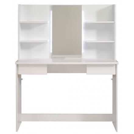 Coiffeuse meuble design 1 miroir AMBRE (blanc)