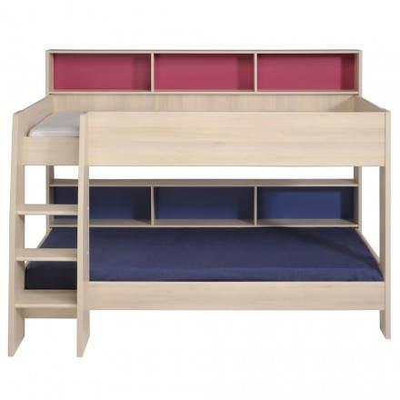 lits superpos s junior fille gar on design melis beige. Black Bedroom Furniture Sets. Home Design Ideas
