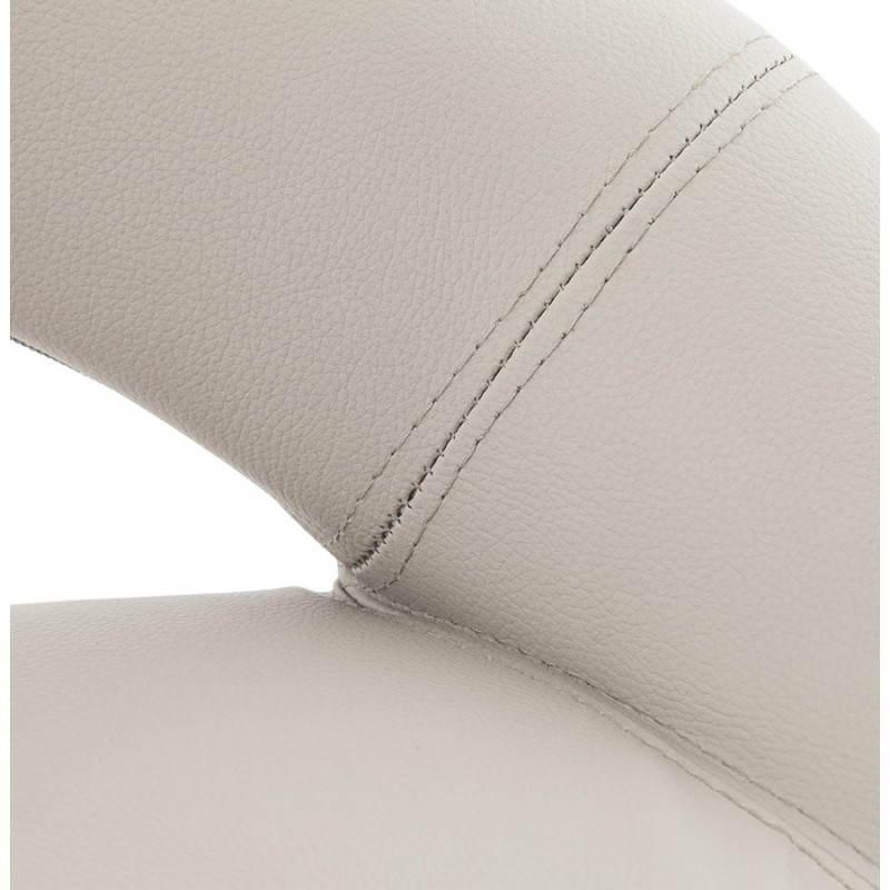 Tabouret de bar rond contemporain rotatif et réglable IRIS (gris clair) - image 27497