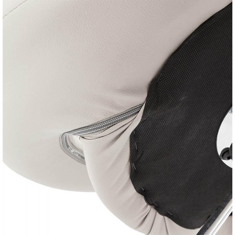 Tabouret de bar rond contemporain rotatif et réglable IRIS (gris clair) - image 27498