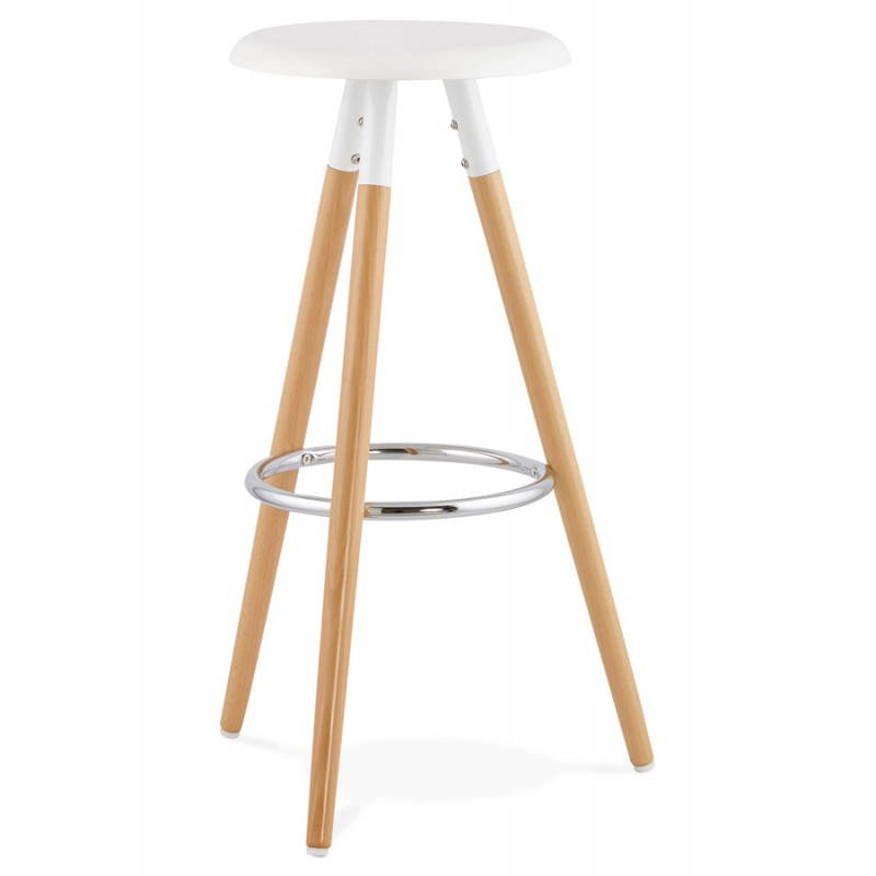 Tabouret bois de bar design scandinave 3 pieds pierrot - Tabouret bar design bois ...