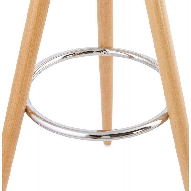 Tabouret bois de bar design scandinave 3 pieds PIERROT (blanc, naturel) - image 27576