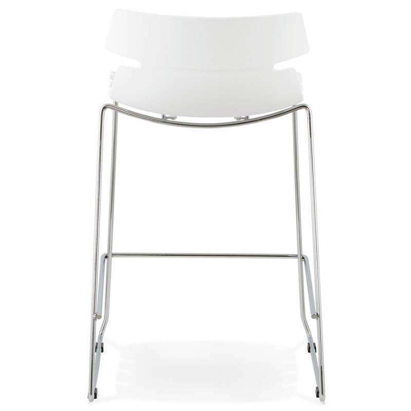 Tabouret de bar mi-hauteur design BRIO en polypropylène (blanc) - image 27584