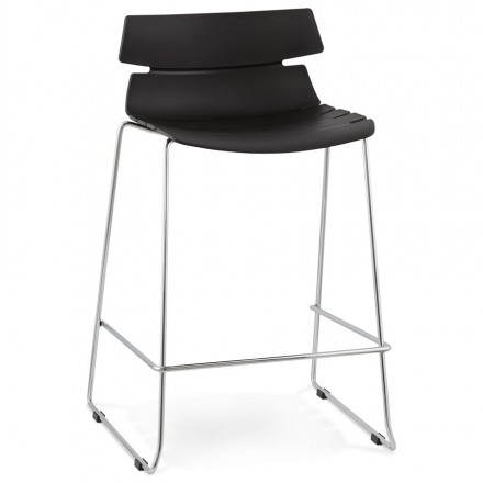 Barstool design mid-height BRIO polypropylene (black)