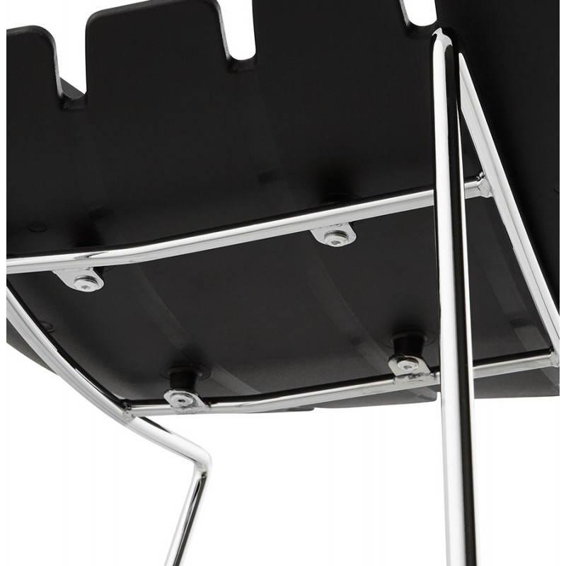 Tabouret de bar mi-hauteur design BRIO en polypropylène (noir) - image 27603