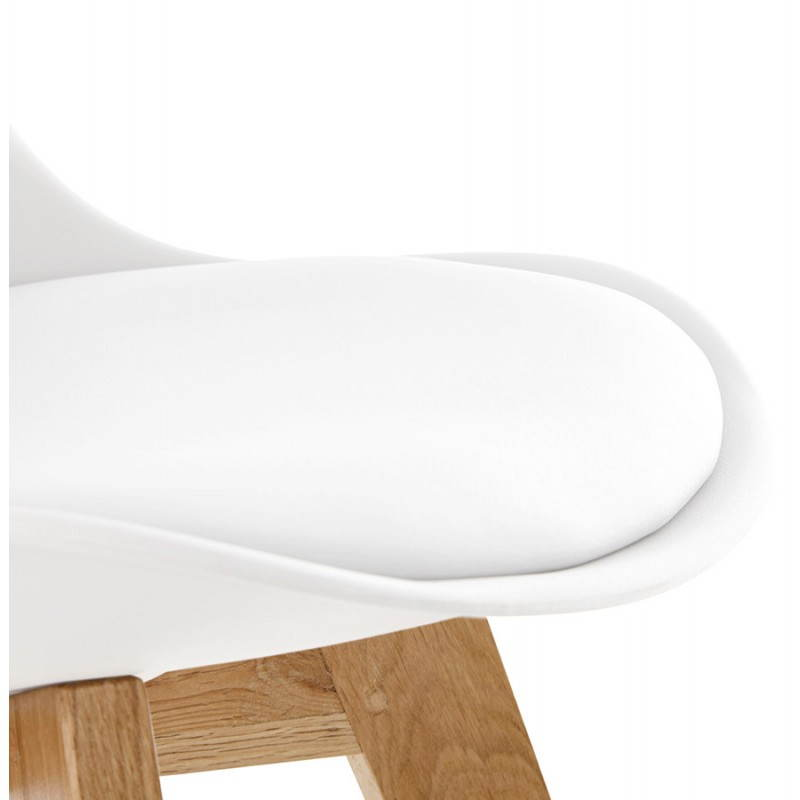 Chaise contemporaine style scandinave FJORD (blanc) - image 27629