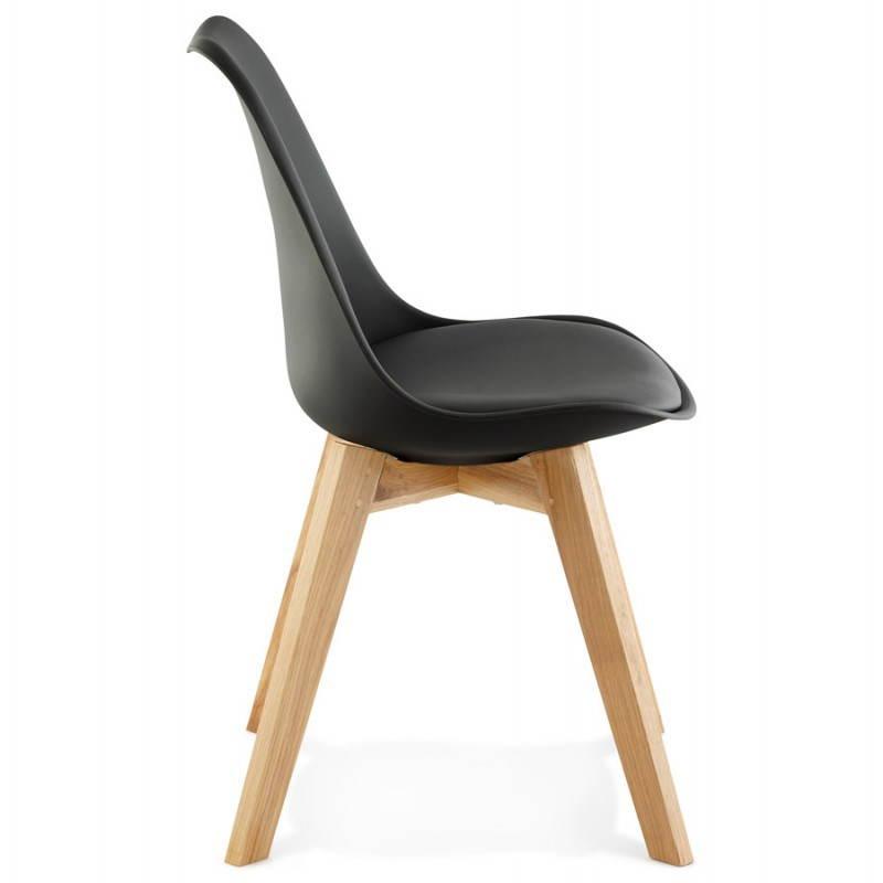 Chaise contemporaine style scandinave FJORD (noir) - image 27807