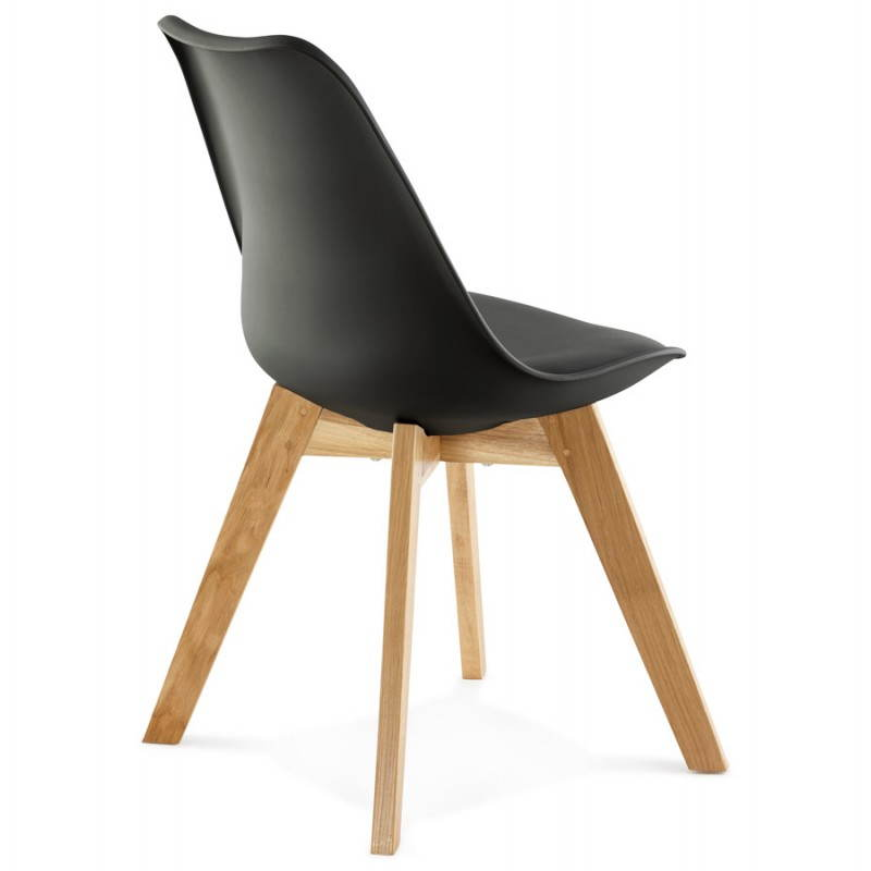 Chaise Contemporaine Style Scandinave FJORD Noir