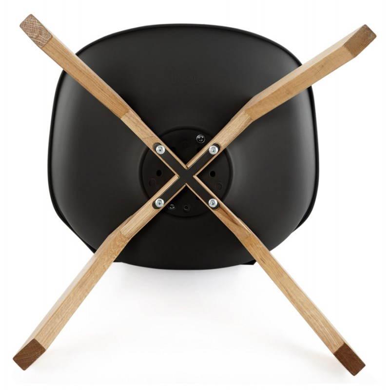 chaise contemporaine style scandinave fjord noir. Black Bedroom Furniture Sets. Home Design Ideas