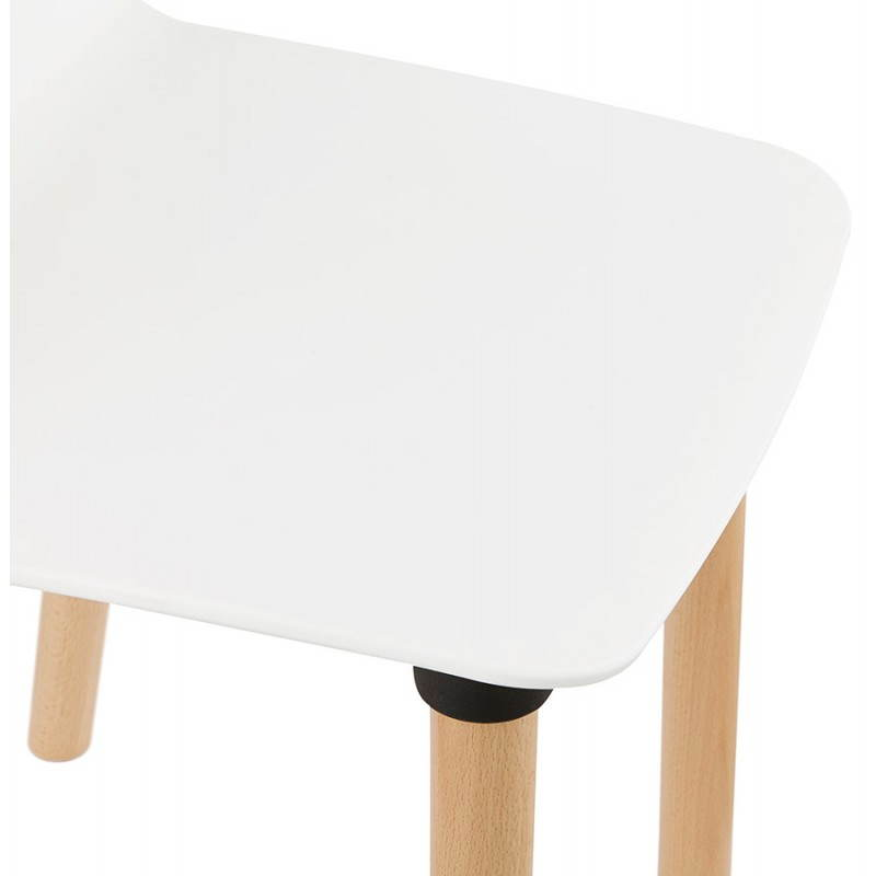 Chaise design scandinave SUEDE (blanc) - image 27823