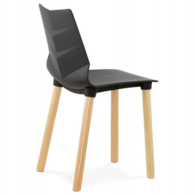 Chaise design scandinave SUEDE (noir) - image 27833