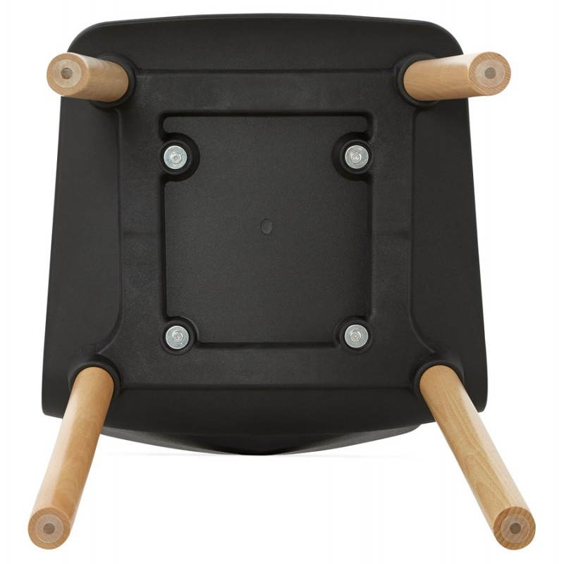 Chaise design scandinave SUEDE (noir) - image 27841