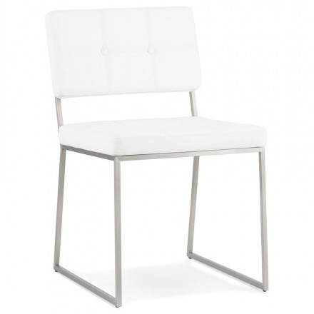 Chair design padded BOUTON (white)