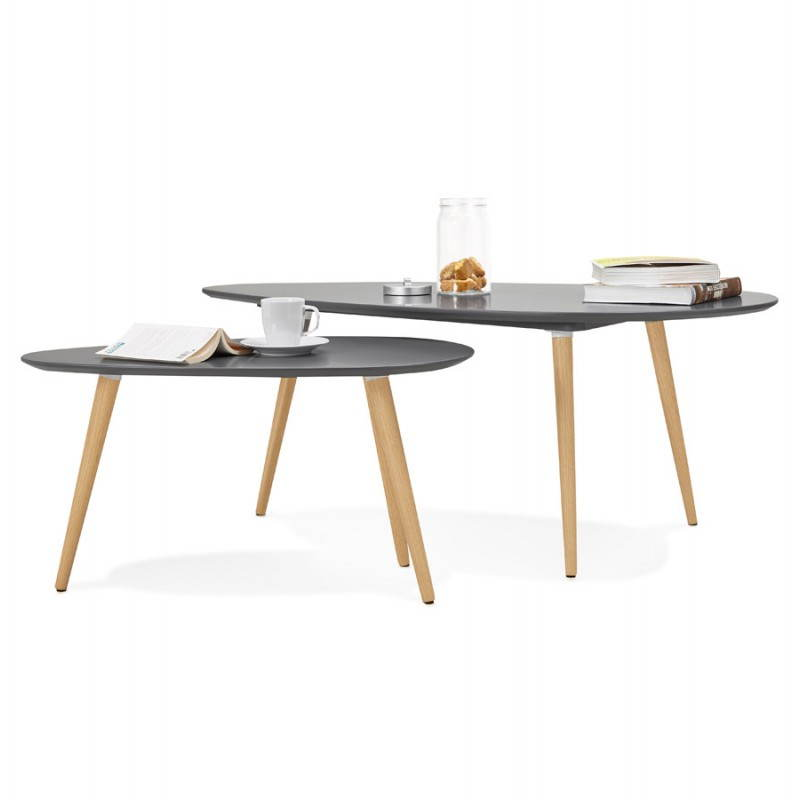 Tables Basses Design Ovales Gigognes Golda En Bois Et