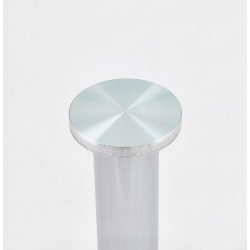 Diseño redondo OLAV comedor en vidrio y cromado (Ø 90 cm) tabla del metal (transparente) - image 27942