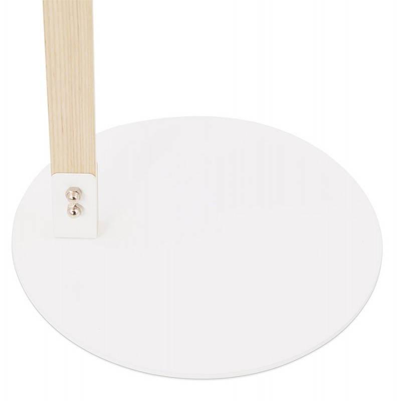 Lampada da terra design LOFT in metallo e legno (naturale, bianco) - image 28218