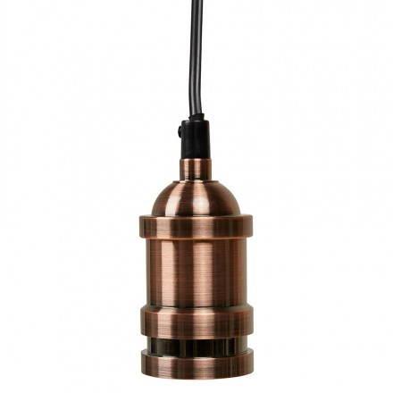 Douille pour lampe à suspension vintage industrielle EROS en métal (cuivre)