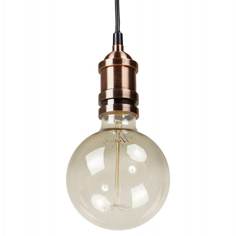 Douille pour lampe à suspension vintage industrielle EROS en métal (cuivre) - image 28225