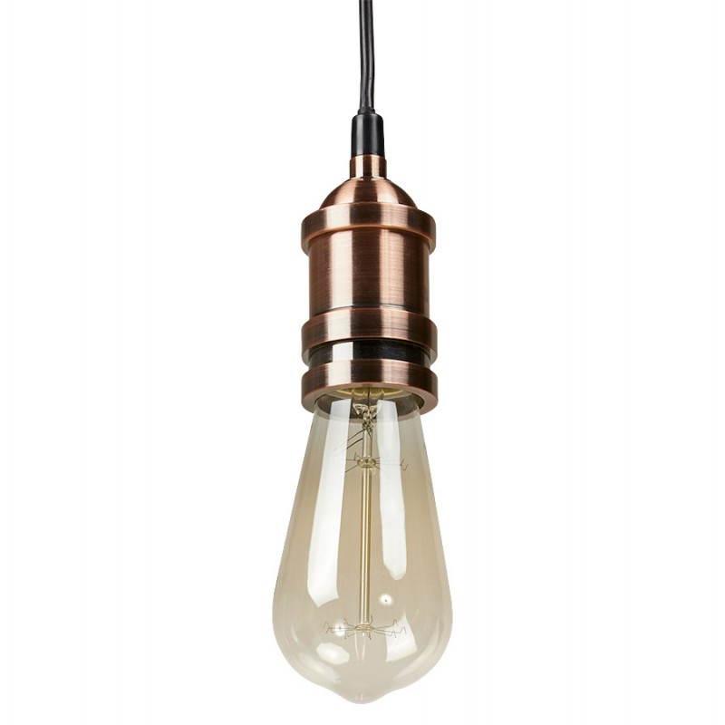 Douille pour lampe à suspension vintage industrielle EROS en métal (cuivre) - image 28226