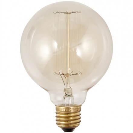 Ampoule ronde vintage industrielle IVAN en verre (transparent, fumé)