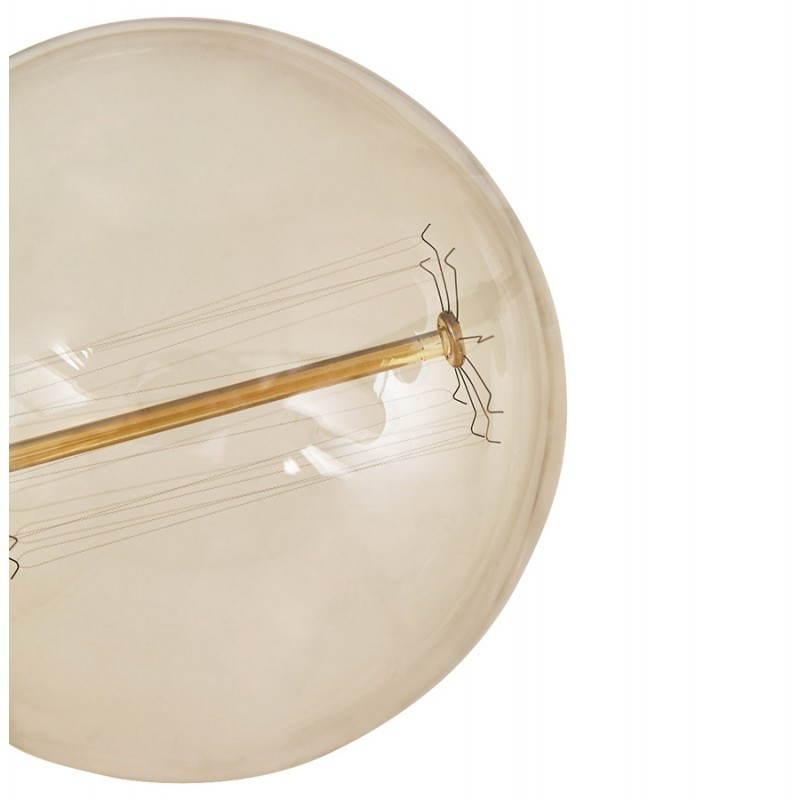 Ampoule ronde vintage industrielle IVAN en verre (transparent, fumé) - image 28240