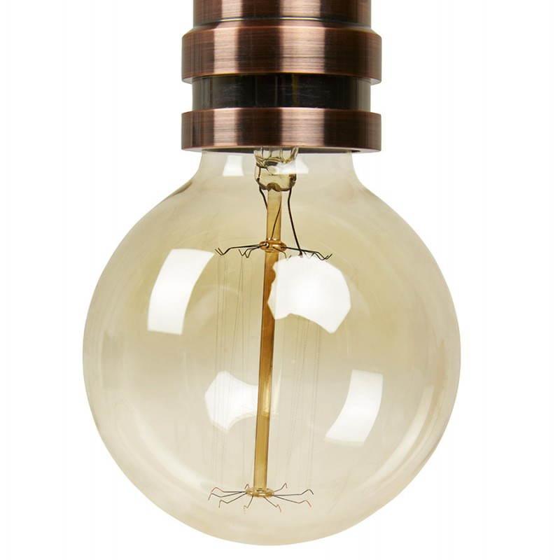 Ampoule ronde vintage industrielle IVAN en verre (transparent, fumé) - image 28244