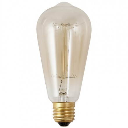 Ampoule longue vintage industrielle IVAN en verre (transparent, fumé)