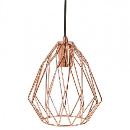 Hanging MOSS vintage metal (copper) lamp
