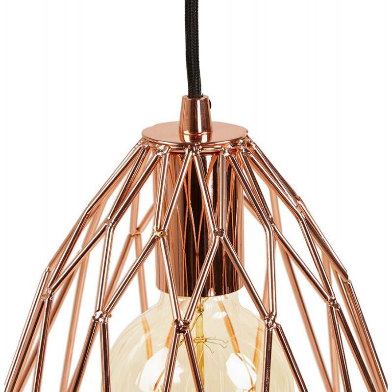 Lampe à suspension vintage MOSS en métal (cuivre) - image 28264
