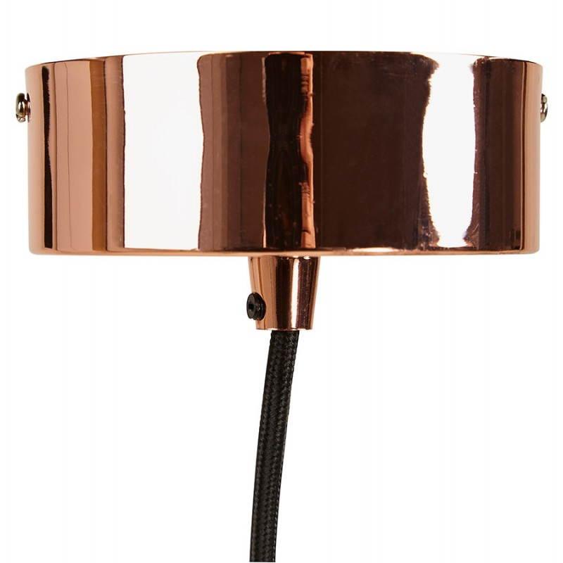 Lampe suspension vintage moss en m tal cuivre - Suspension metal cuivre ...