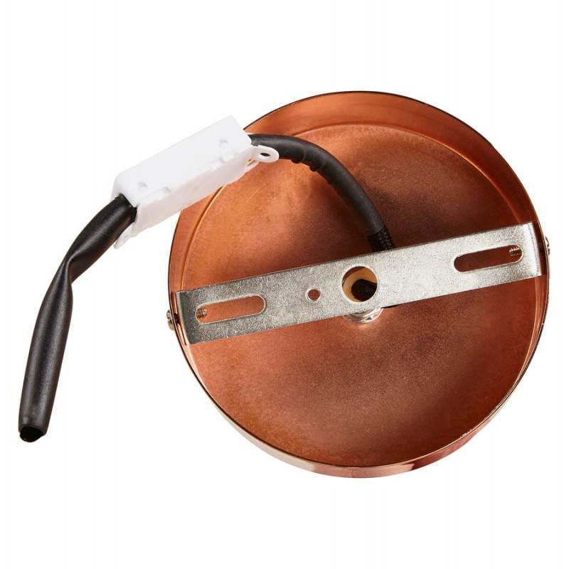 Lampe à suspension vintage MOSS en métal (cuivre) - image 28269