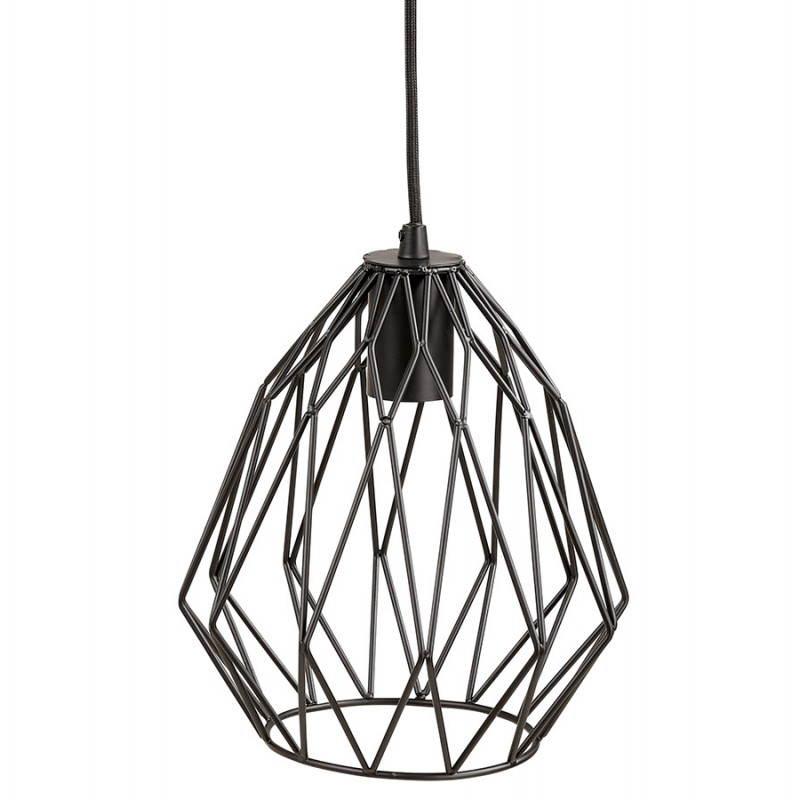 Lampe à suspension vintage MOSS en métal (noir) - image 28271