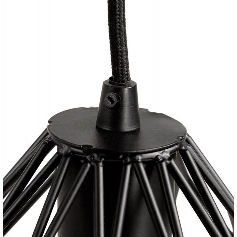 Lampe à suspension vintage MOSS en métal (noir) - image 28276