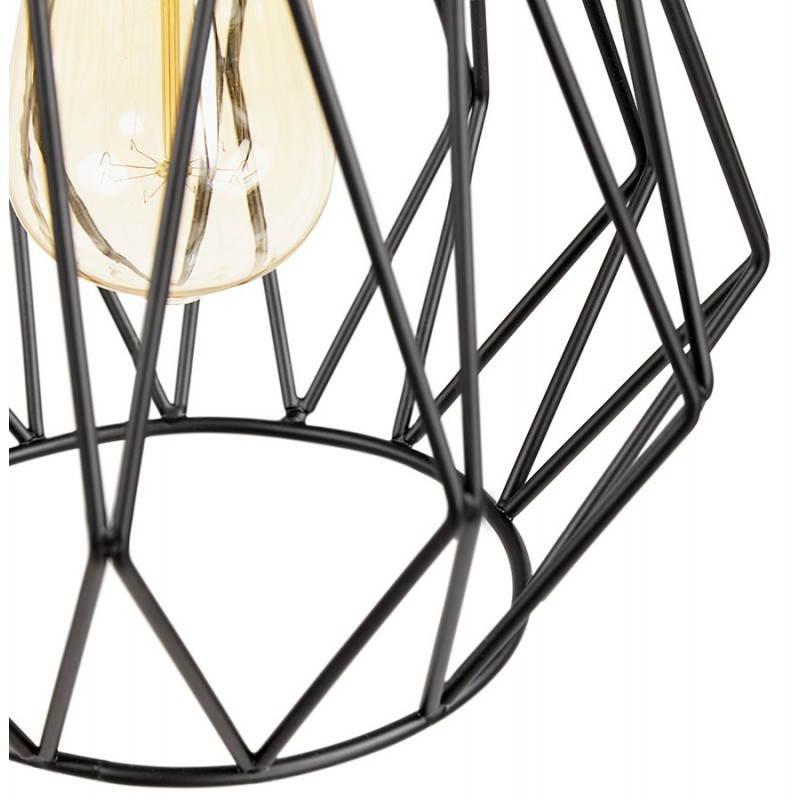 Lampe à suspension vintage MOSS en métal (noir) - image 28277