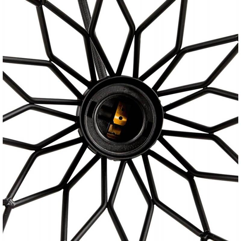 Lampe à suspension vintage MOSS en métal (noir) - image 28278