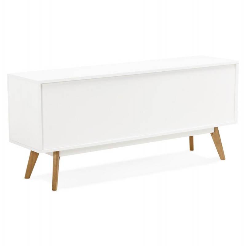 Progettazione di porte in legno di riga stile buffet scandinavo 2 KARL (bianco opaco) - image 28287