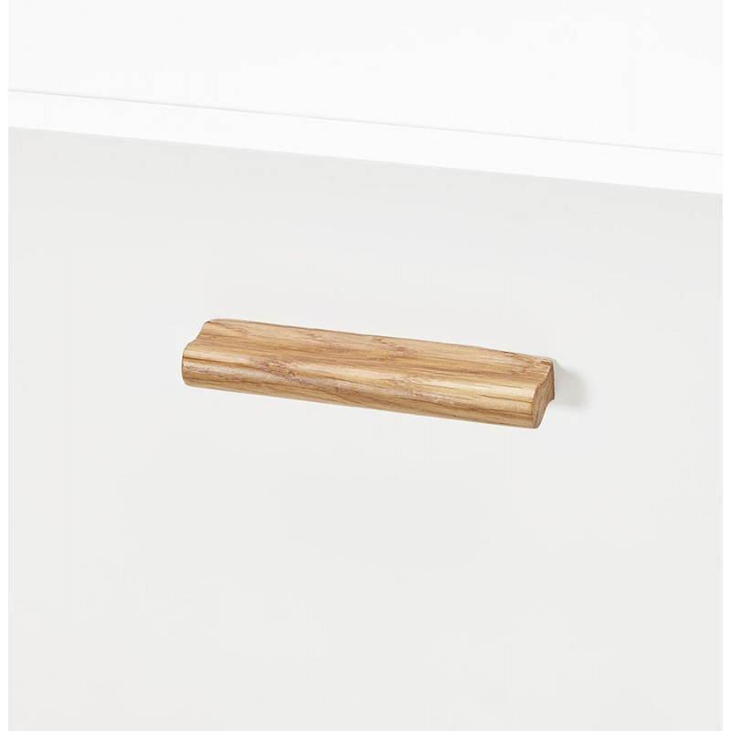 Progettazione di porte in legno di riga stile buffet scandinavo 2 KARL (bianco opaco) - image 28291