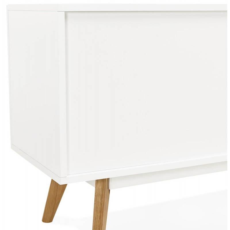 Progettazione di porte in legno di riga stile buffet scandinavo 2 KARL (bianco opaco) - image 28293