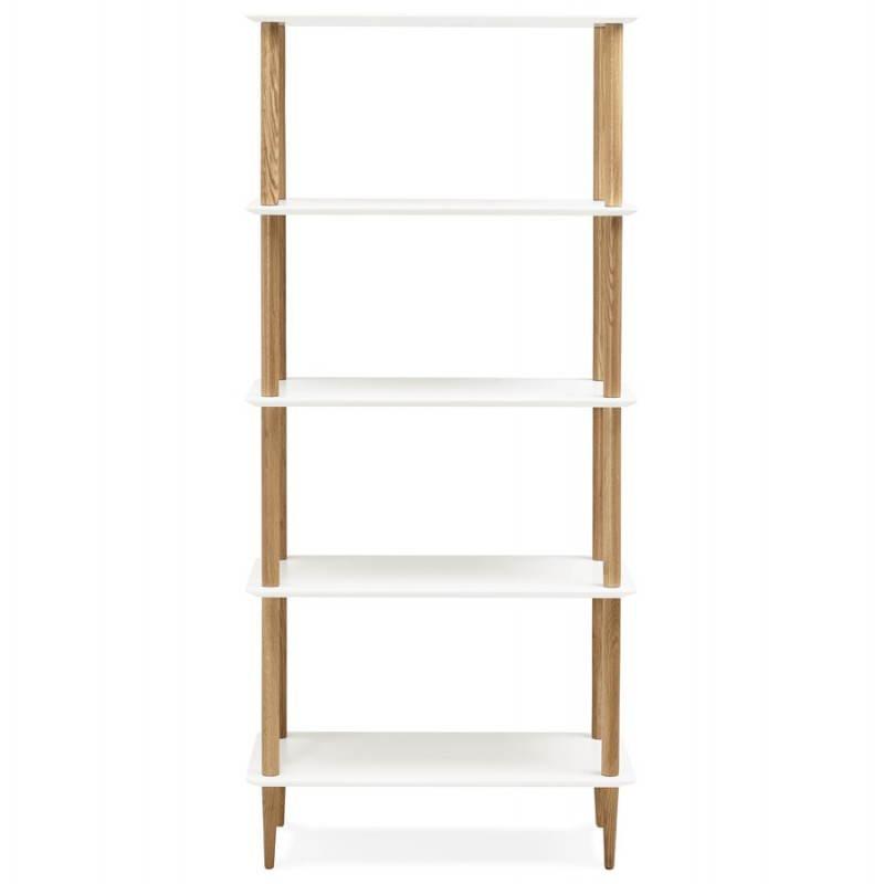 Etagère bibliothèque design style scandinave ERIKA en bois (blanc) - image 28300